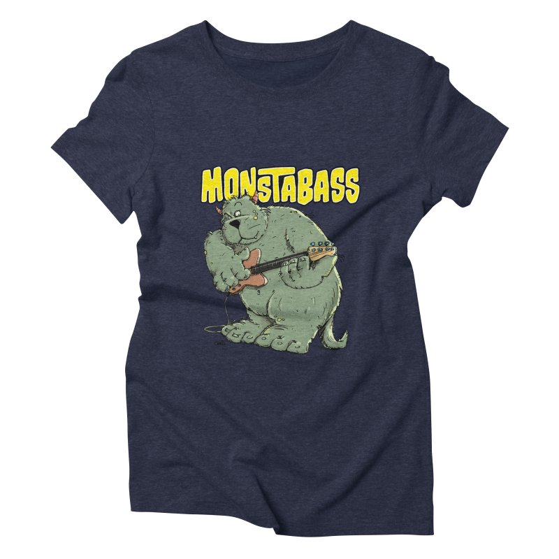 Monsterbass Women's Triblend T-Shirt by Illustrated Madness