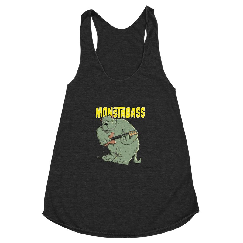 Monsterbass Women's Racerback Triblend Tank by Illustrated Madness