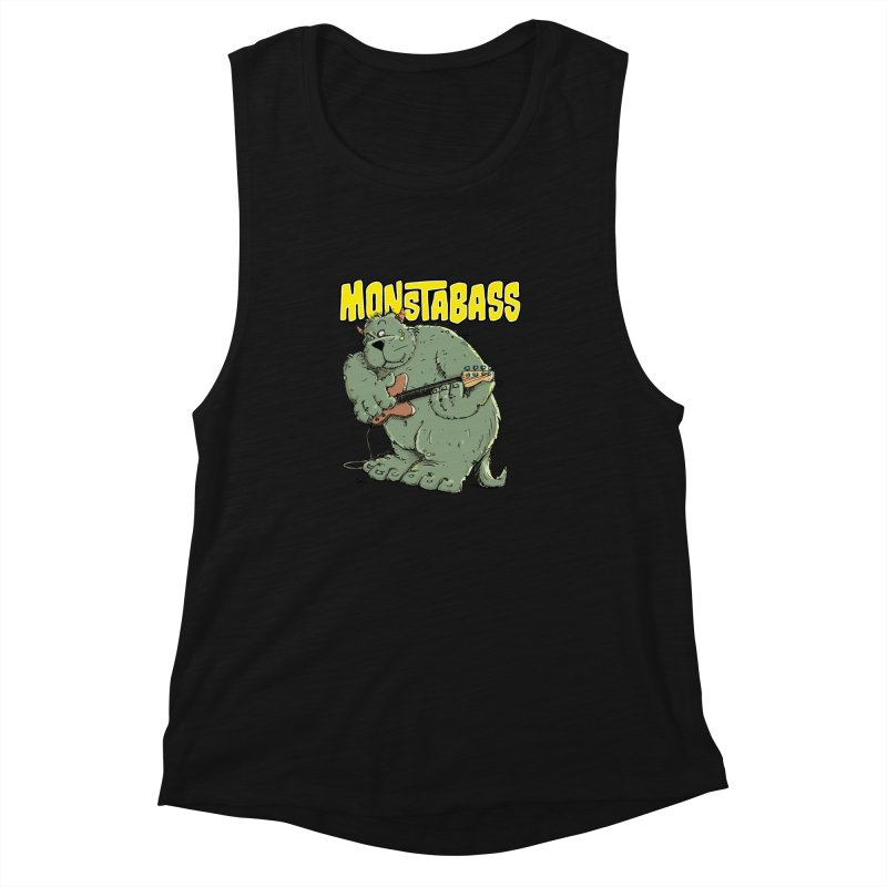 Monsterbass Women's Muscle Tank by Illustrated Madness