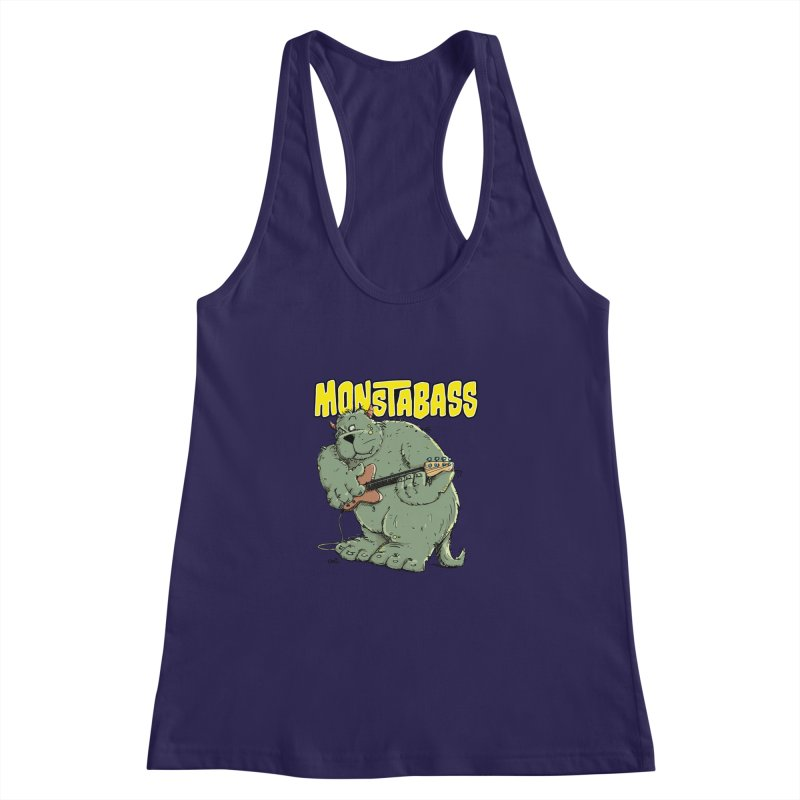 Monsterbass Women's Racerback Tank by Illustrated Madness