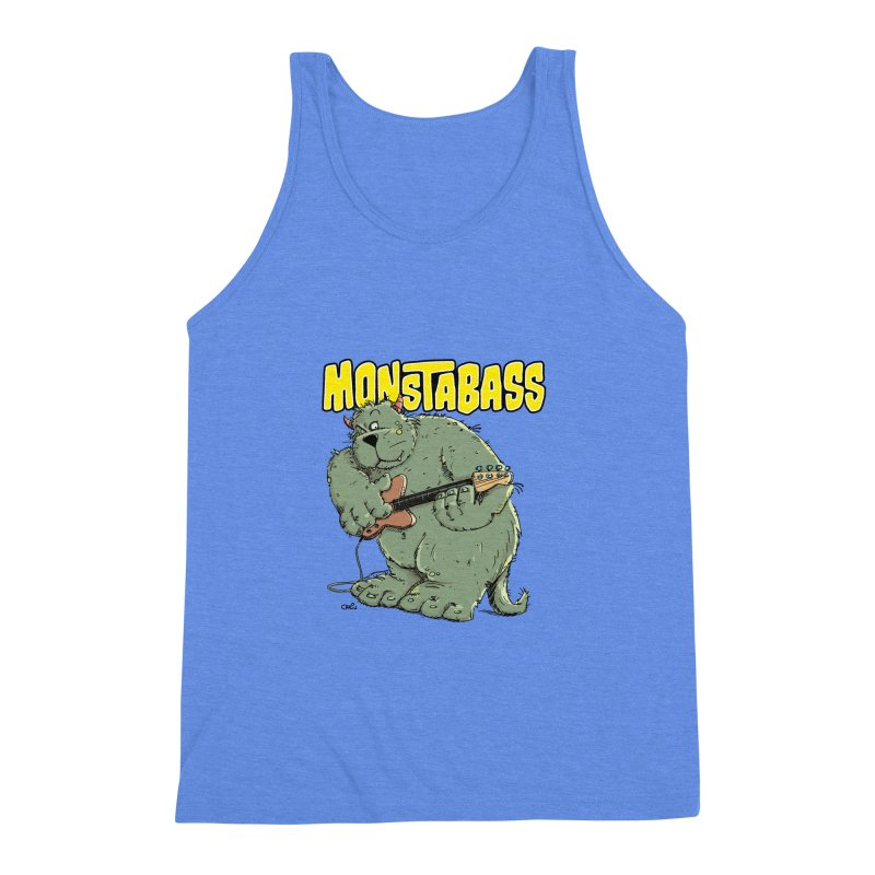Monsterbass Men's Triblend Tank by Illustrated Madness