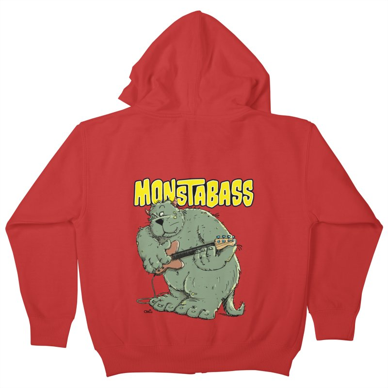 Monsterbass Kids Zip-Up Hoody by Illustrated Madness