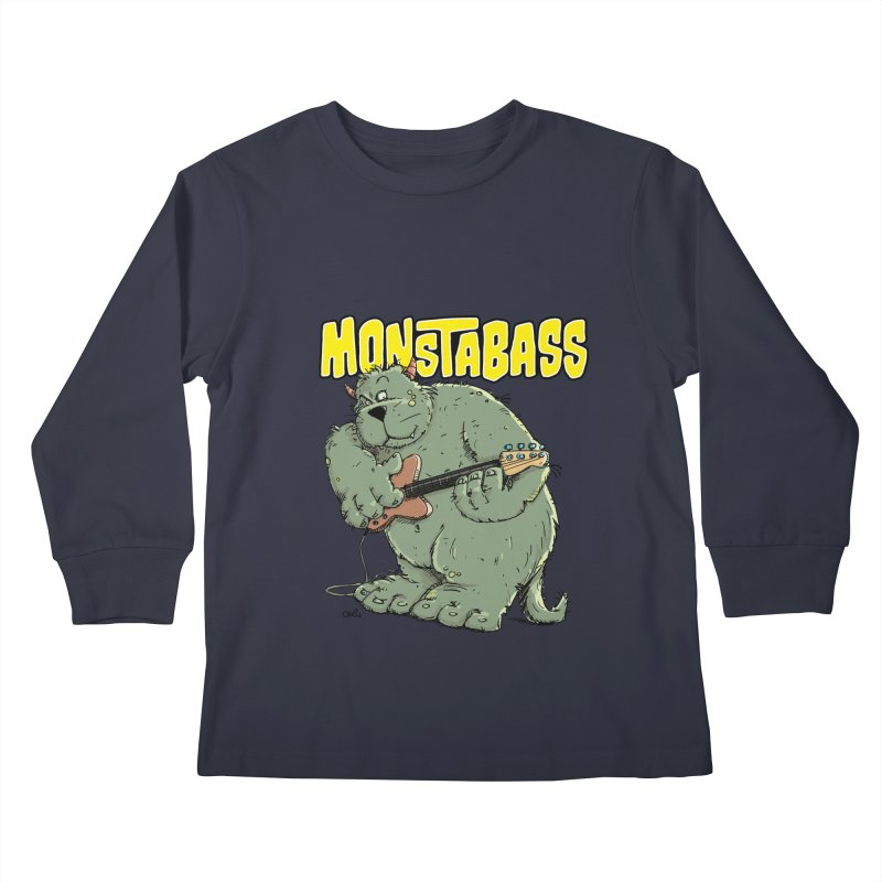 Monsterbass Kids Longsleeve T-Shirt by Illustrated Madness