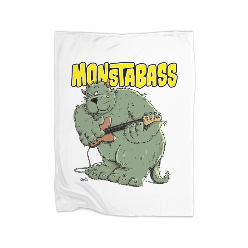 Monsterbass Home Blanket by Illustrated Madness