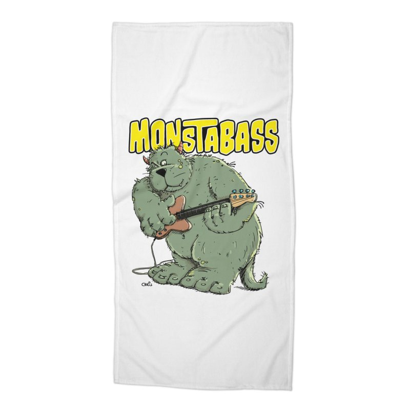 Monsterbass Accessories Beach Towel by Illustrated Madness