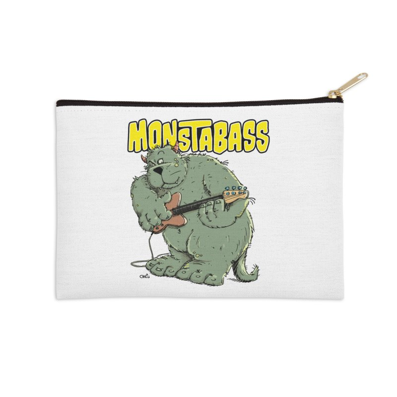 Monsterbass Accessories Zip Pouch by Illustrated Madness