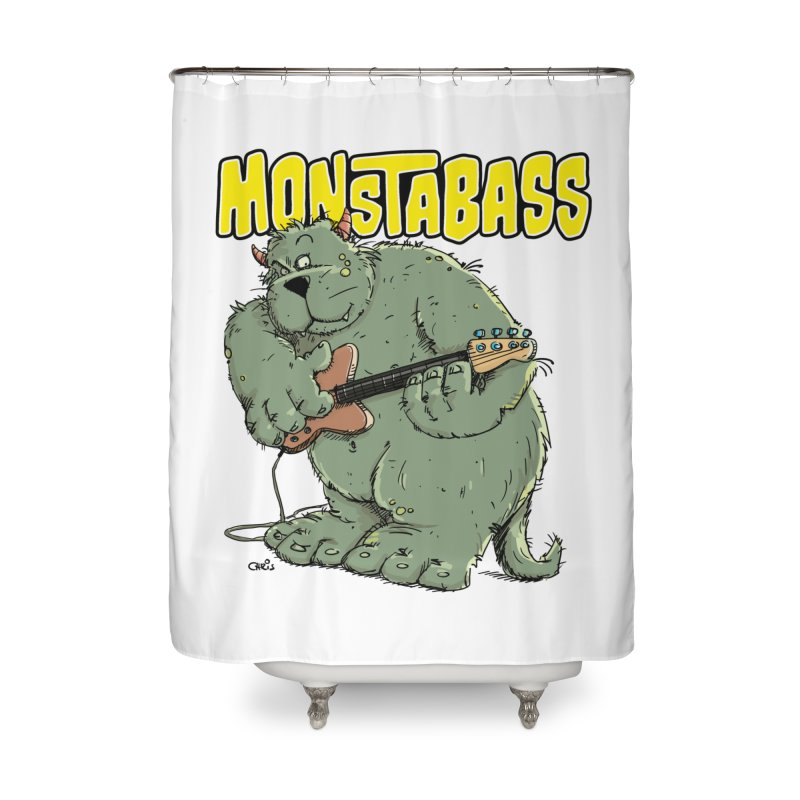 Monsterbass Home Shower Curtain by Illustrated Madness