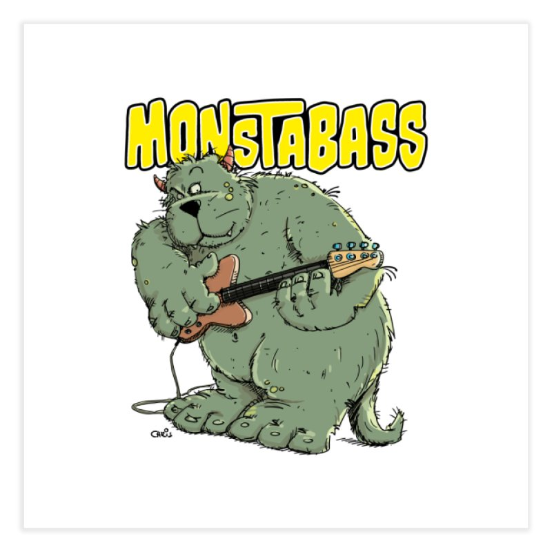 Monsterbass Home Fine Art Print by Illustrated Madness