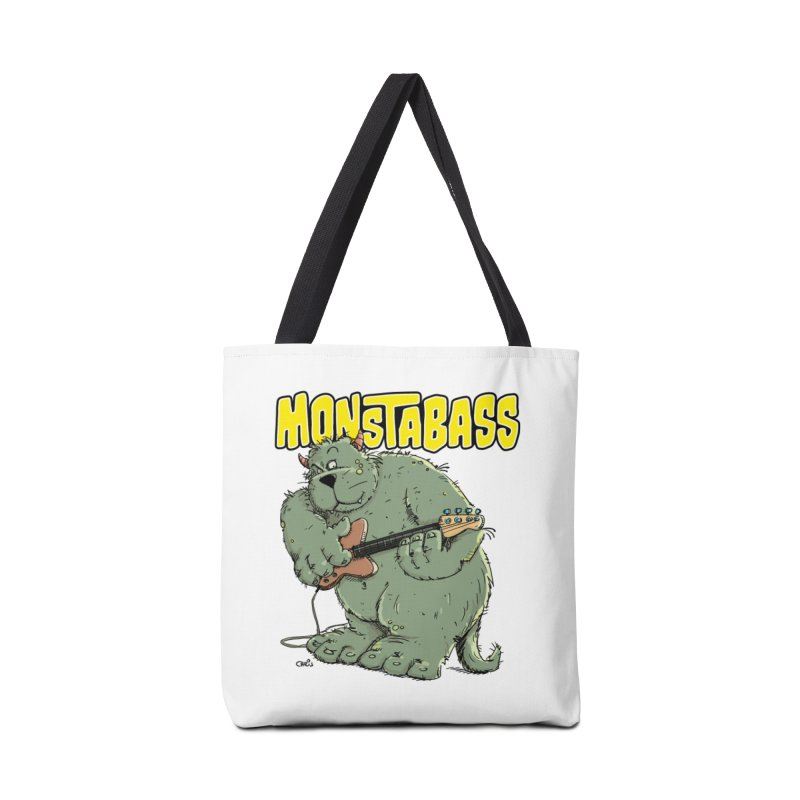 Monsterbass Accessories Tote Bag Bag by Illustrated Madness