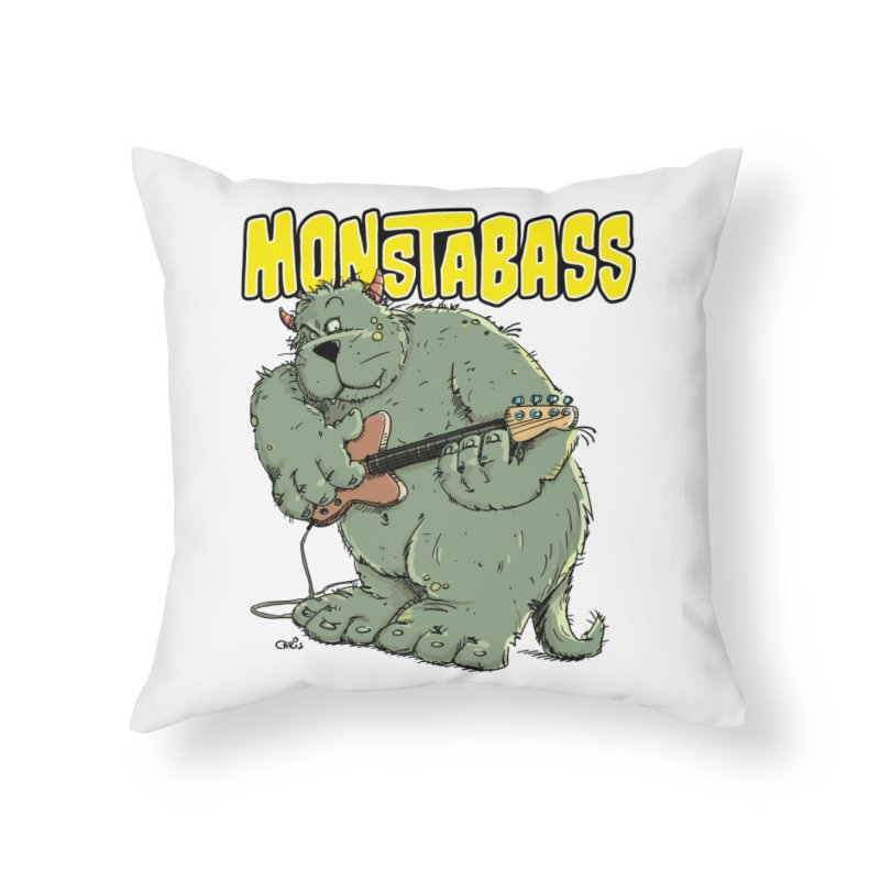Monsterbass Home Throw Pillow by Illustrated Madness