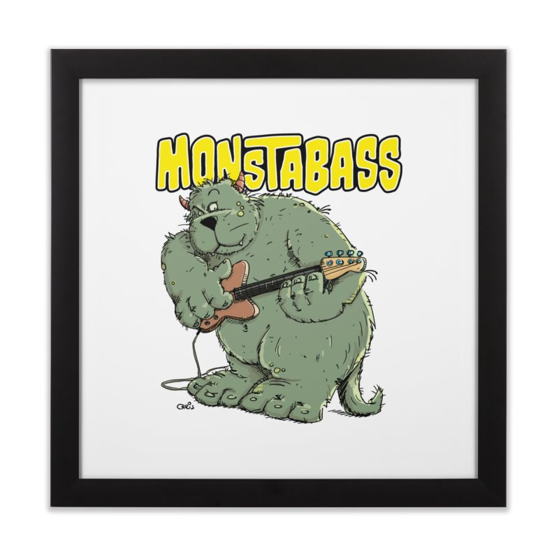 Monsterbass Home Framed Fine Art Print by Illustrated Madness