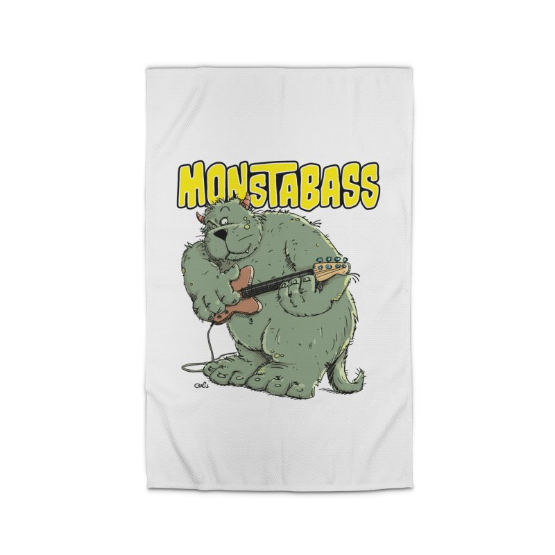 Monsterbass Home Rug by Illustrated Madness