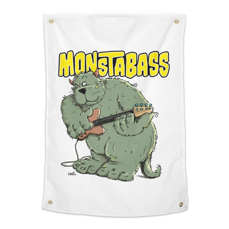 Monsterbass Home Tapestry by Illustrated Madness