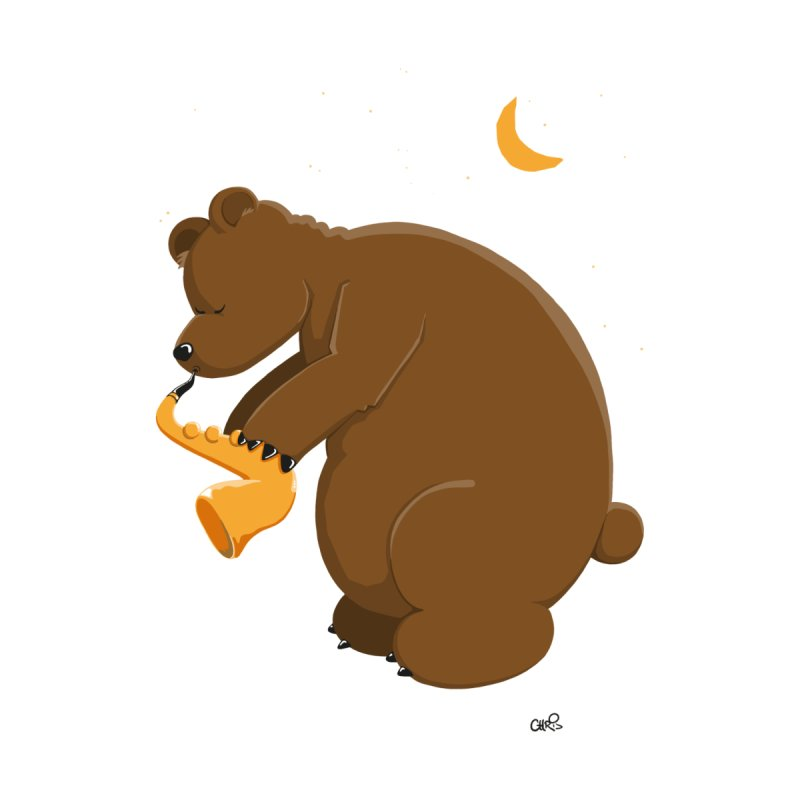 Moon over beary Saxophone None  by Illustrated Madness