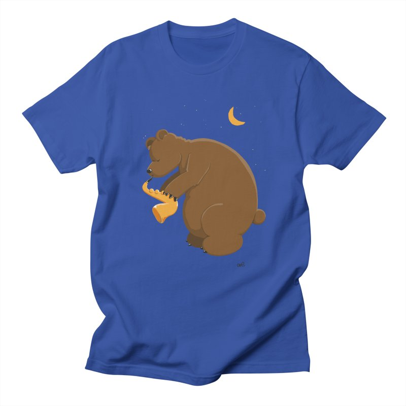 Moon over beary Saxophone Women's Unisex T-Shirt by Illustrated Madness