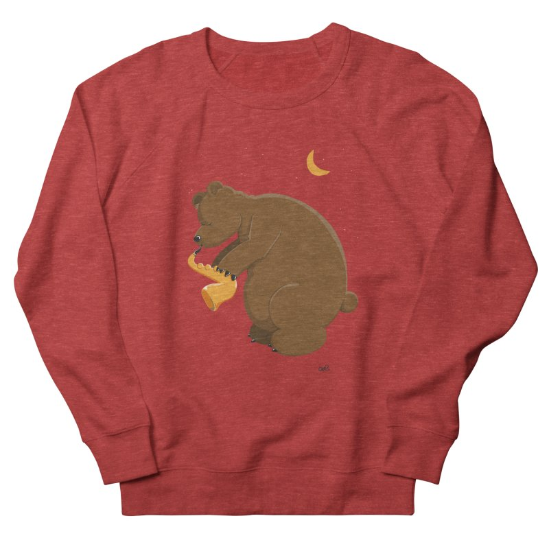 Moon over beary Saxophone Women's Sweatshirt by Illustrated Madness