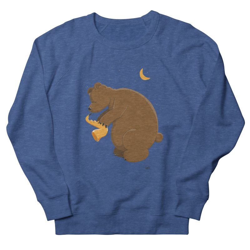 Moon over beary Saxophone Men's Sweatshirt by Illustrated Madness
