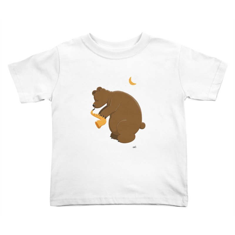 Moon over beary Saxophone Kids Toddler T-Shirt by Illustrated Madness