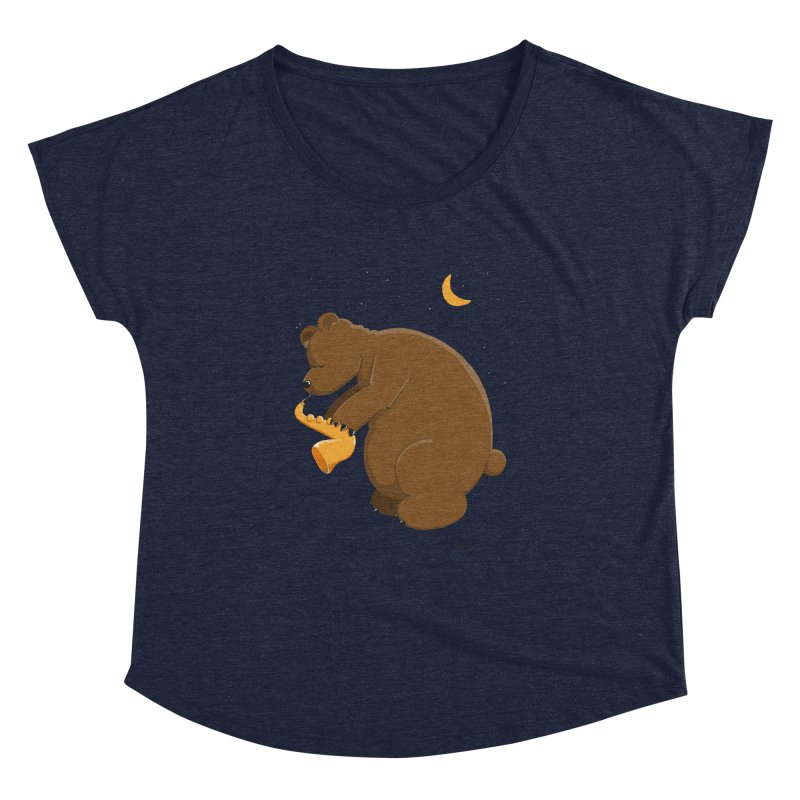 Moon over beary Saxophone Women's Dolman by Illustrated Madness