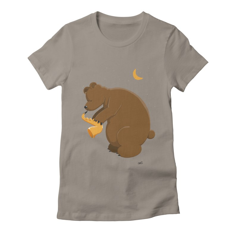 Moon over beary Saxophone   by Illustrated Madness