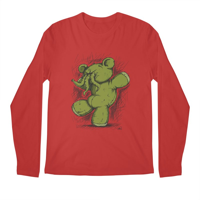 Mr Lovecraft's Teddy Bear Men's Longsleeve T-Shirt by Illustrated Madness