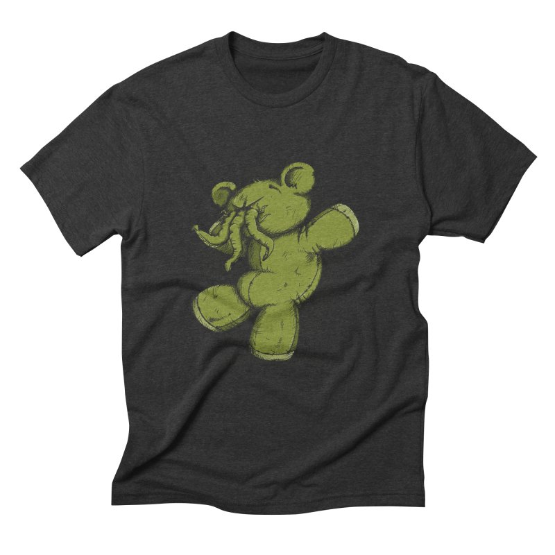 Mr Lovecraft's Teddy Bear Men's Triblend T-Shirt by Illustrated Madness
