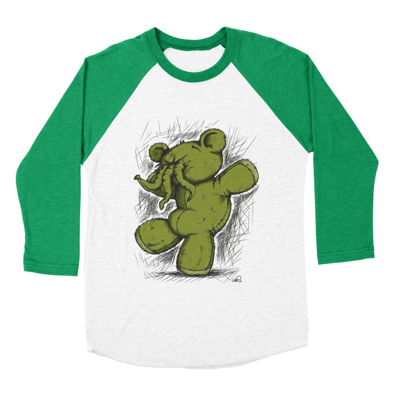 Mr Lovecraft's Teddy Bear Men's Baseball Triblend T-Shirt by Illustrated Madness