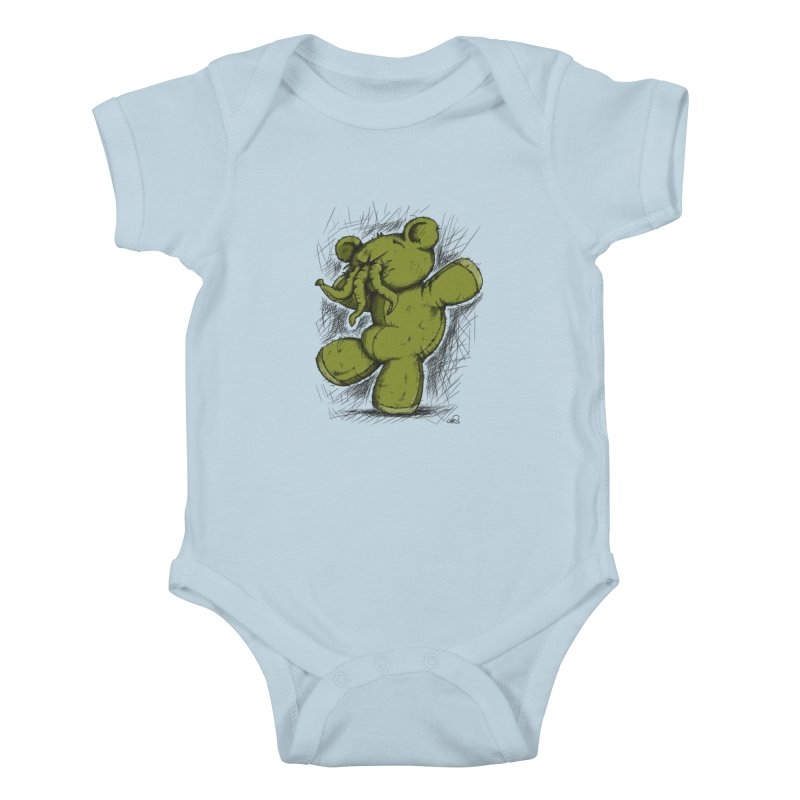 Mr Lovecraft's Teddy Bear Kids Baby Bodysuit by Illustrated Madness