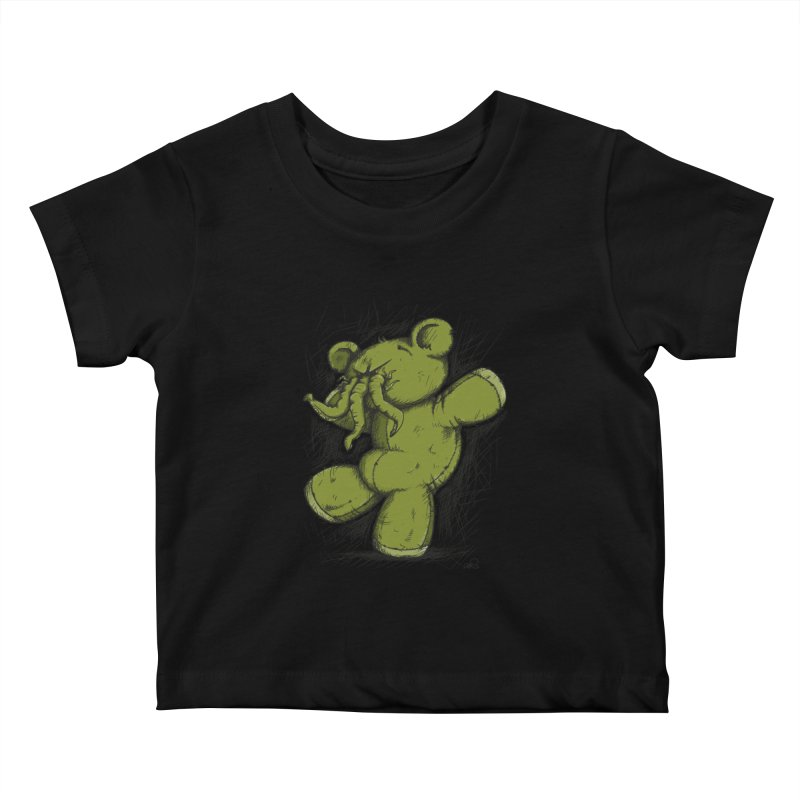 Mr Lovecraft's Teddy Bear Kids Baby T-Shirt by Illustrated Madness