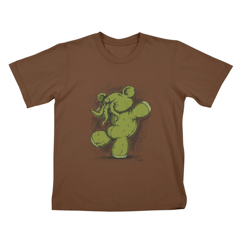 Mr Lovecraft's Teddy Bear Kids T-Shirt by Illustrated Madness