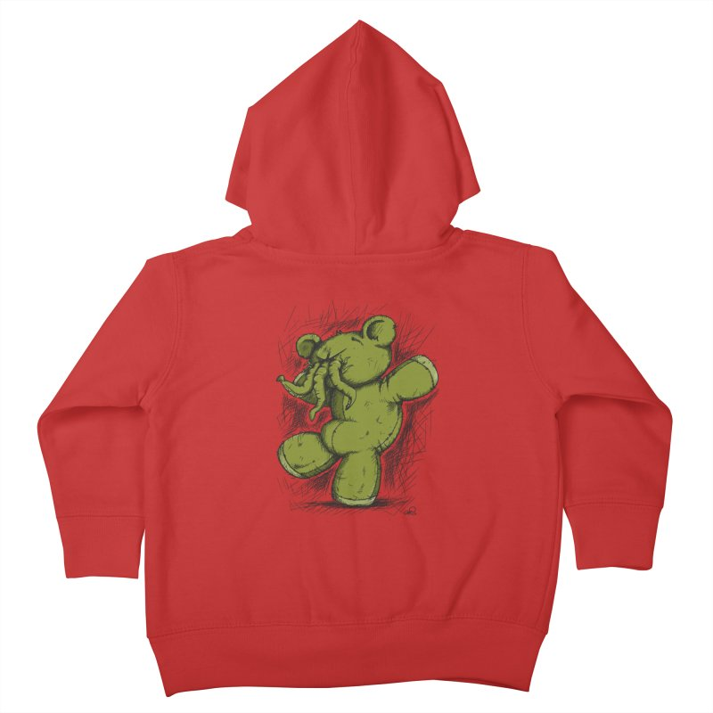 Mr Lovecraft's Teddy Bear Kids Toddler Zip-Up Hoody by Illustrated Madness