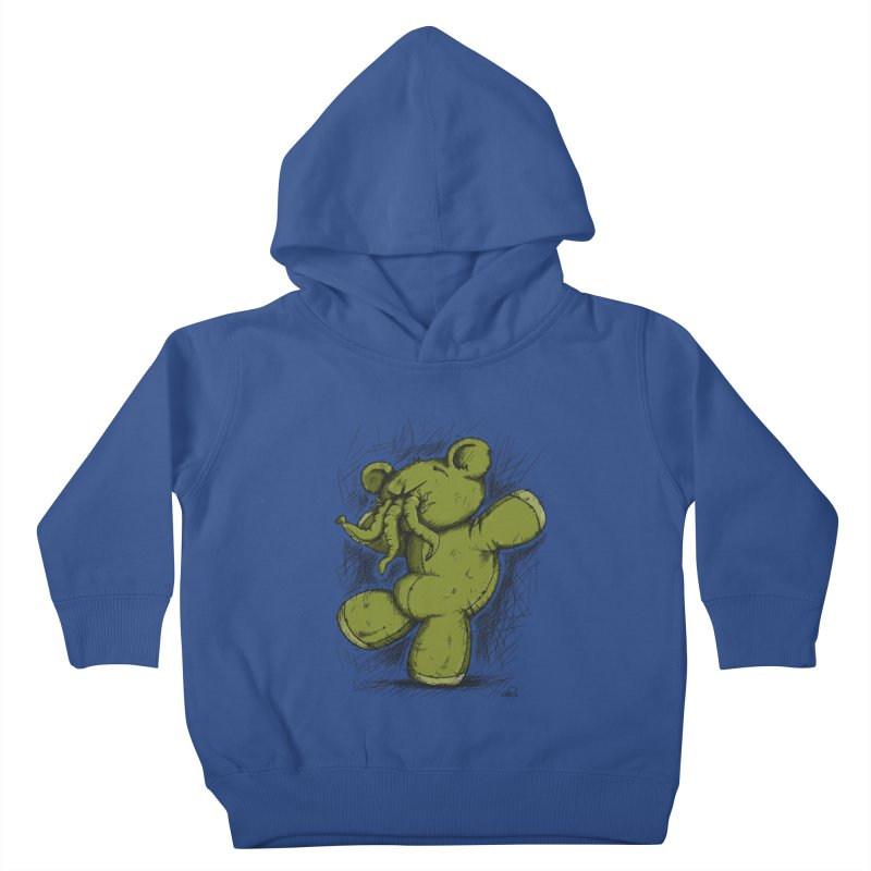 Mr Lovecraft's Teddy Bear Kids Toddler Pullover Hoody by Illustrated Madness