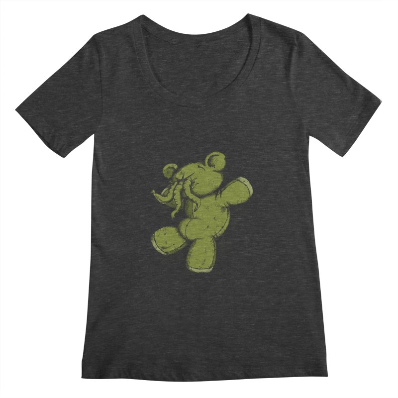 Mr Lovecraft's Teddy Bear Women's Scoopneck by Illustrated Madness