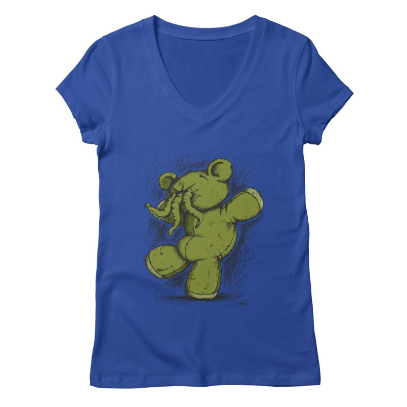 Mr Lovecraft's Teddy Bear Women's V-Neck by Illustrated Madness