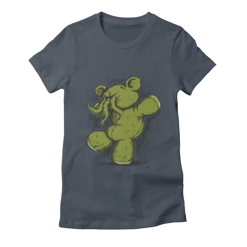 Mr Lovecraft's Teddy Bear Women's Fitted T-Shirt by Illustrated Madness