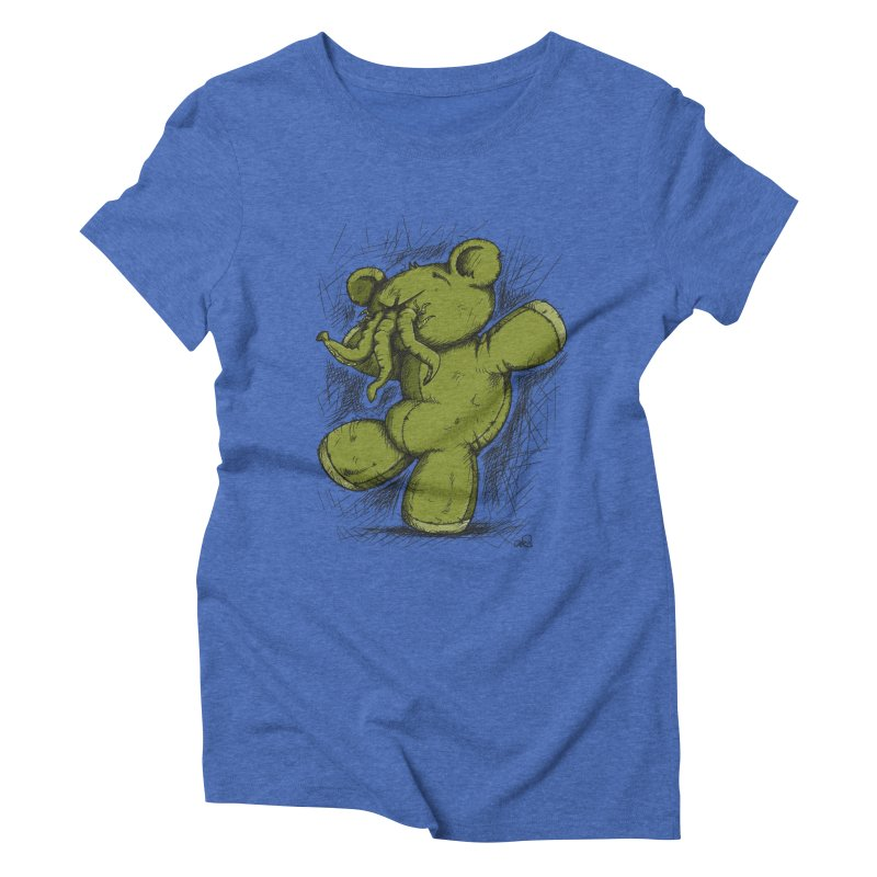 Mr Lovecraft's Teddy Bear Women's Triblend T-shirt by Illustrated Madness