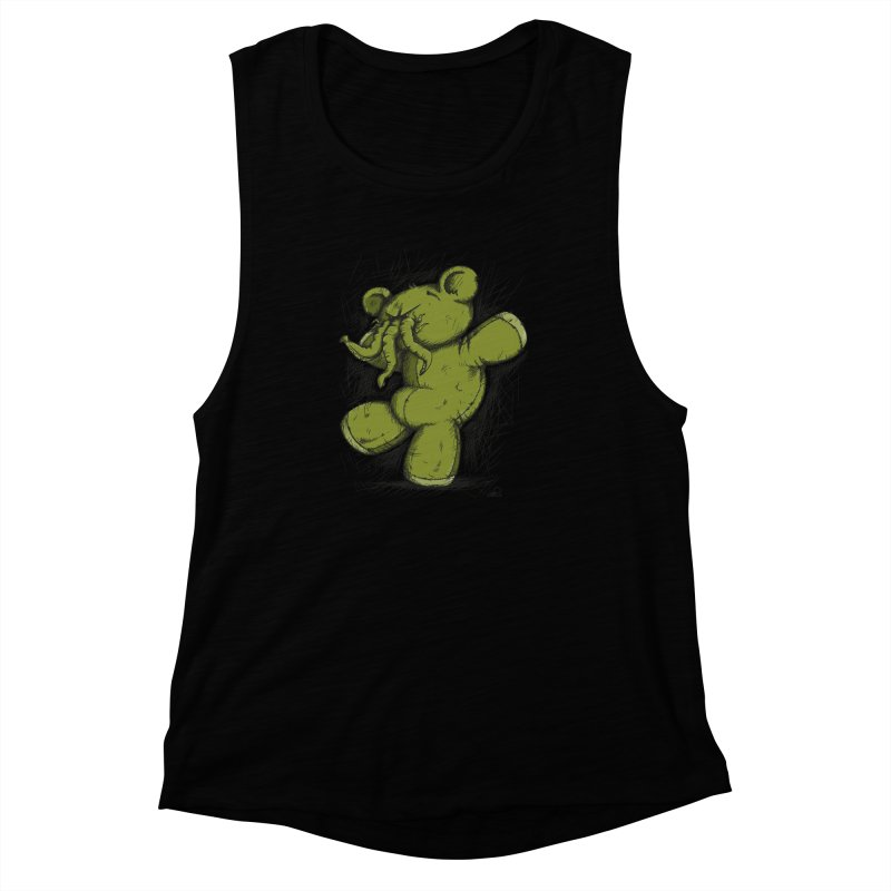 Mr Lovecraft's Teddy Bear Women's Muscle Tank by Illustrated Madness