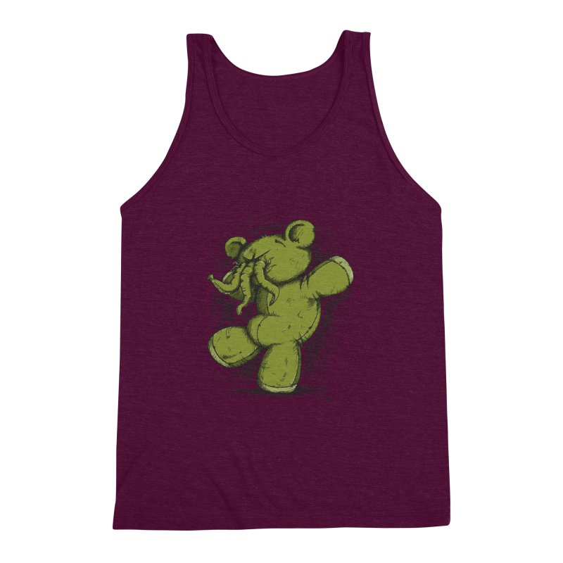 Mr Lovecraft's Teddy Bear Men's Triblend Tank by Illustrated Madness
