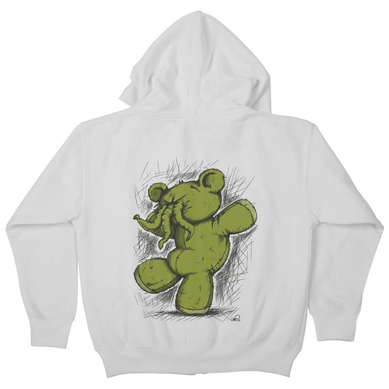 Mr Lovecraft's Teddy Bear Kids Zip-Up Hoody by Illustrated Madness