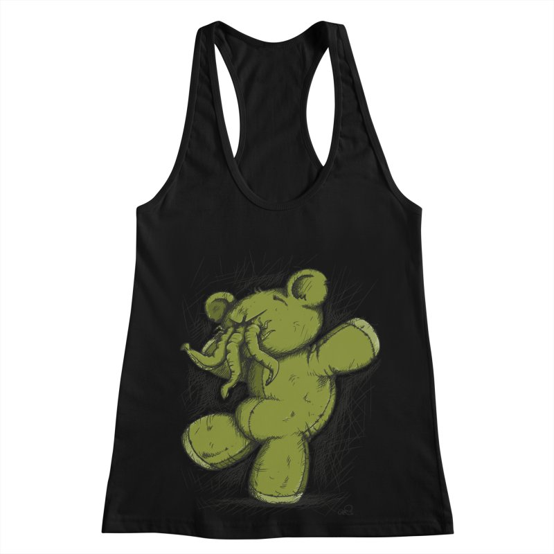 Mr Lovecraft's Teddy Bear Women's Racerback Tank by Illustrated Madness
