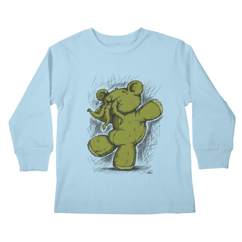 Mr Lovecraft's Teddy Bear Kids Longsleeve T-Shirt by Illustrated Madness
