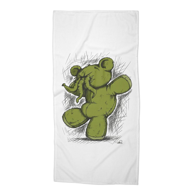 Mr Lovecraft's Teddy Bear Accessories Beach Towel by Illustrated Madness