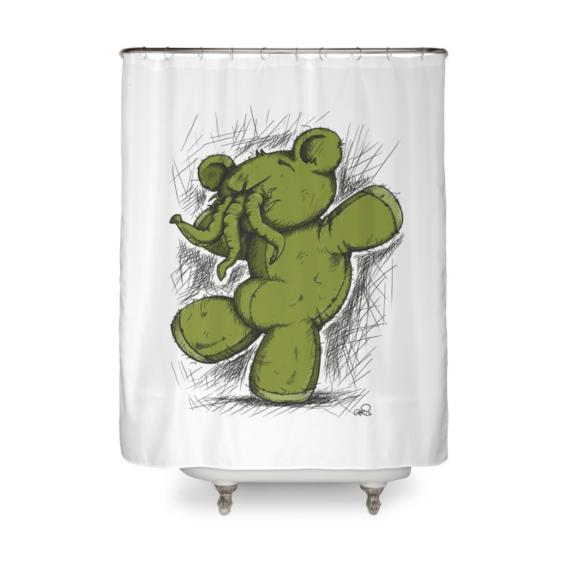 Mr Lovecraft's Teddy Bear Home Shower Curtain by Illustrated Madness