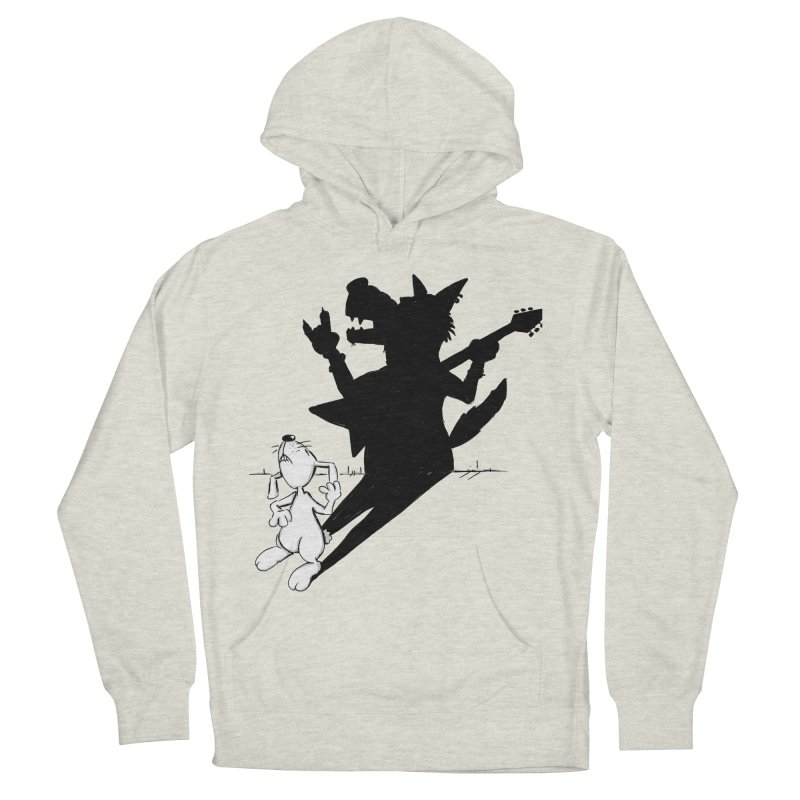 Hare Guitar Women's Pullover Hoody by Illustrated Madness