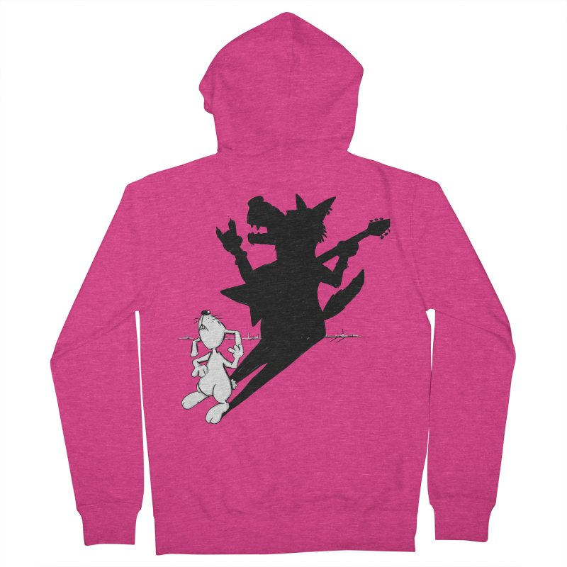Hare Guitar Women's Zip-Up Hoody by Illustrated Madness