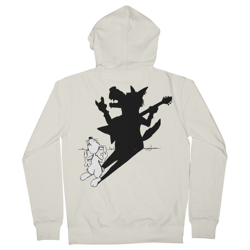 Hare Guitar Men's Zip-Up Hoody by Illustrated Madness
