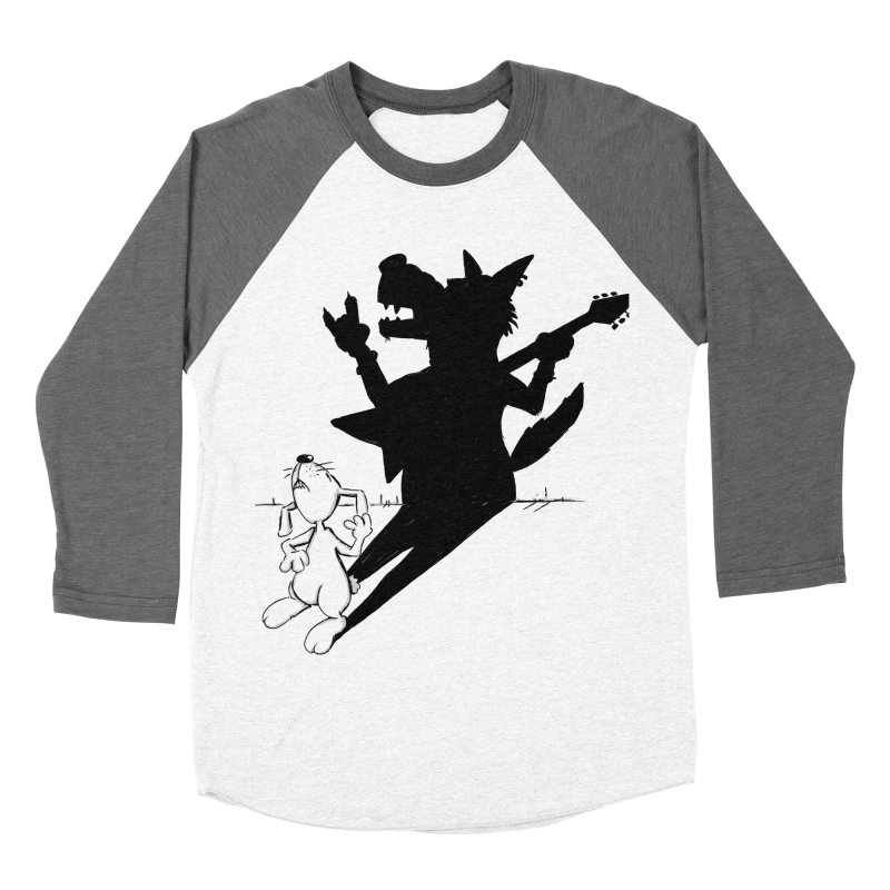 Hare Guitar Women's Baseball Triblend T-Shirt by Illustrated Madness
