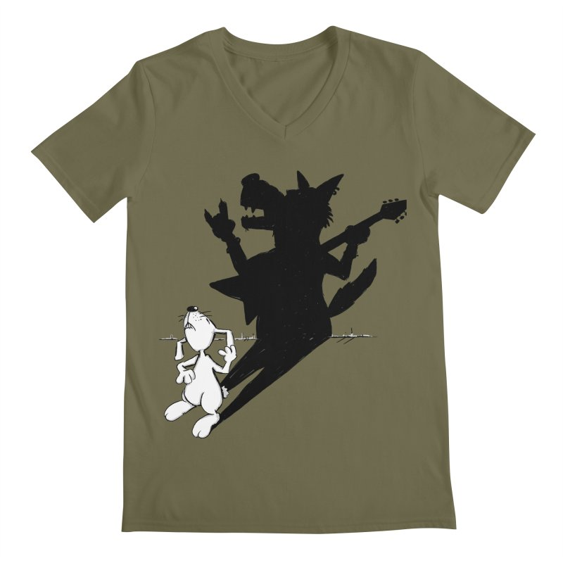 Hare Guitar Men's V-Neck by Illustrated Madness