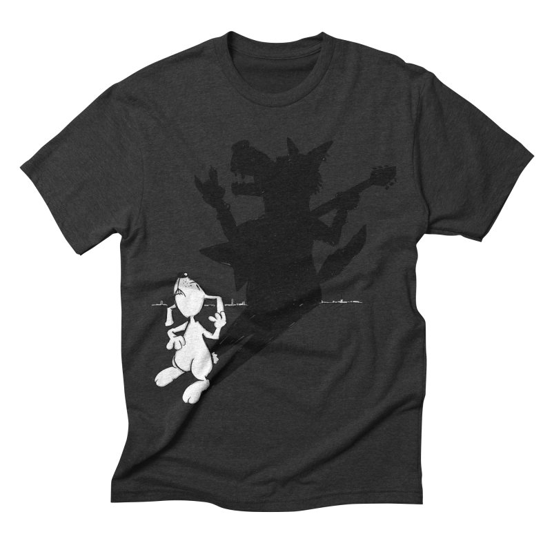 Hare Guitar Men's Triblend T-shirt by Illustrated Madness