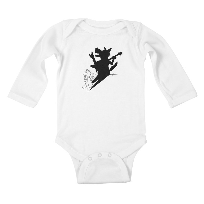 Hare Guitar Kids Baby Longsleeve Bodysuit by Illustrated Madness